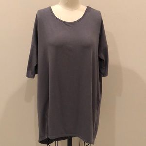 LuLaRoe High-Low Gray Jersey Dress